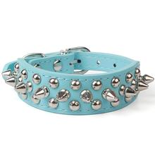 Pet Dog Supplies PU Leather Punk Rivet Spiked Collar Collars For Small Cat