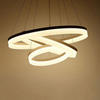 Modern led white color ring circle Acrylic LED chandelier foyer dinning room chandeliers cerchio anello lampadario hanging lamp