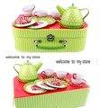 Детский игровой домик  игрушечный кухонный чайный набор для девочки  подарочная коробка