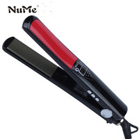 Titanium Plates Hair Curler LCD Display Hair Straightener Negative Ions Curling Iron Styling Tool Straightening Iron