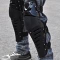 One pair Pro-biker Motorcycle knee pads Sport protection Moto Racing Black kneepads Calf protector for knee