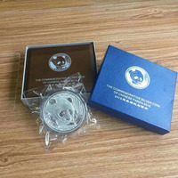 2018 Year 1000g 1kg Weight China panda plated Silver coins with COA certificate forAnimal Coin gift present copy