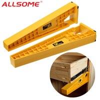 ALLSOME 2 stücke Schublade Rutsche Jig Set Schublade Rutsche Montage Tool Set Möbel Erweiterung Schrank Installieren Guide Holzbearbeitung Werkzeuge-in Handwerkzeug-Sets aus Werkzeug bei