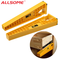ALLSOME 2pcs Drawer Slide Jig Set Drawer Slide Mounting Tool Set Furniture Extension Cupboard Install Guide Woodworking Tools