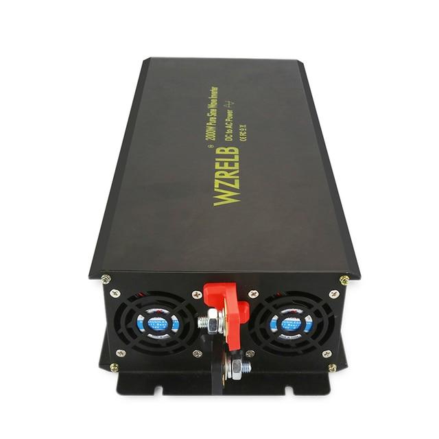 Onduleur solaire à onde sinusoïdale Pure | 2000W, 24V 230V, transformateur de puissance de secours, 12V/36V/48V/110V DC à 120V/220V/240V AC