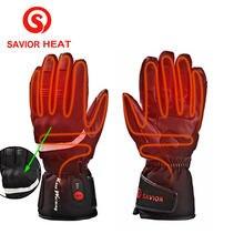 Тепло Спасителя 2017 подогревом перчатки Водонепроницаемый полный палец мотоцикл езда гоночные потепление отопление мужчину 40-65 градусов 3 уровня открытый