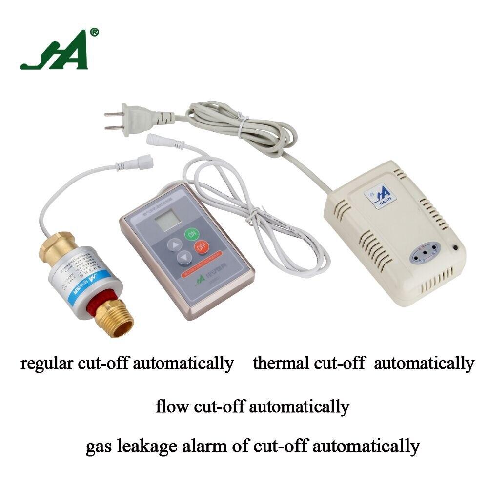 Alarm Home Ja882s A Pipe Fitting Gas Safety Valve Gas Leak Wireless Detector Self Defense Stove Shut Off Valve