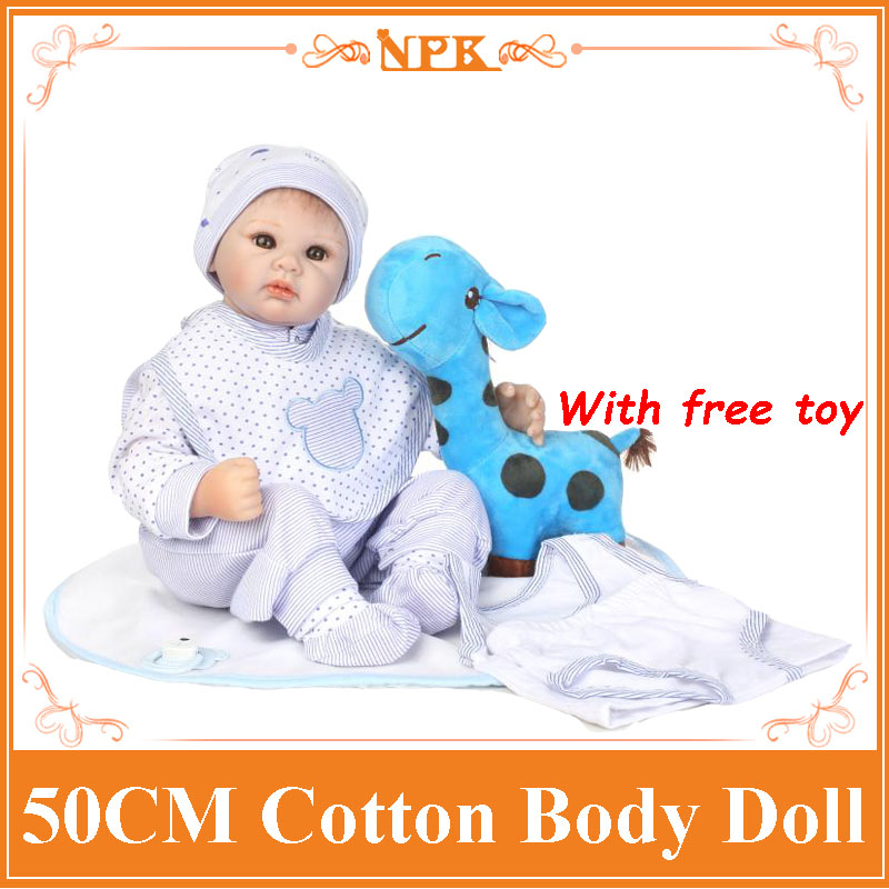 NPK New 20Inch Boneca Bebe Reborn Doll Soft Silicone Lifelike Newborn Baby Dolls With Free Giraffe Toys Baby Kids Toys Girl Gift hot sale 2016 npk 22 inch reborn baby doll lovely soft silicone newborn girl dolls as birthday christmas gifts free pacifier
