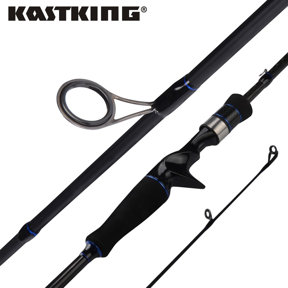 KastKing Cadet 1.98m 2.10m Carbon Spinning Casting Fishing Rod Ceramic Guide Rings with 2 Rod Tips M ML MH Power MF Action