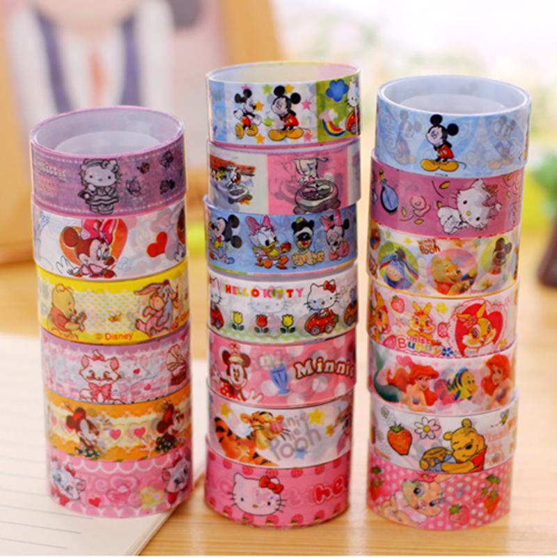 Cartoon Washi Tape 2.5Mx15mm Masking Tape DIY Album Decoration Tape Korean Adhesive Tape Scrapbooking