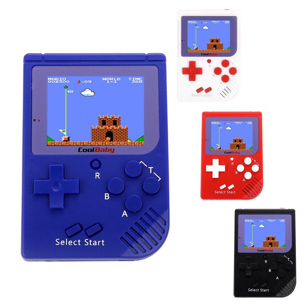 Mini CoolBaby Handheld Video Game Console Game Player Embutido 129 Clássico Presente Para Crianças 8-Bit Handheld Game Console