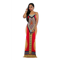 Nouveau jolie image chaude femmes d'été dress strap géométrique sexy dress boho long dress magnifique! 3011