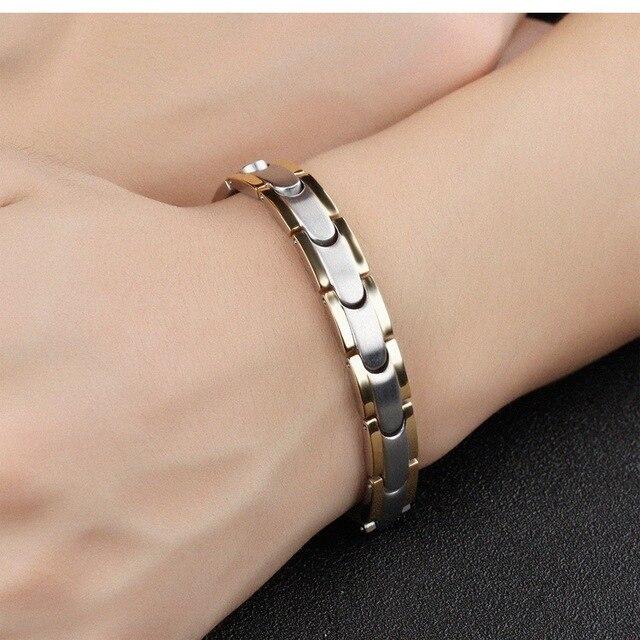 Модные модные магнитные браслеты для пар женщин титановая сталь