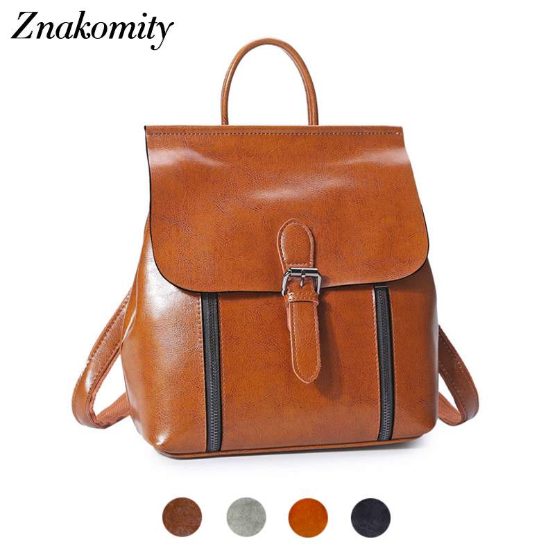 Znakomity Backpacks women genuine leather backpack women Small retro backpack shoulder bag female Crossbody messenger backpack набор для вышивания бисером майя 1042860
