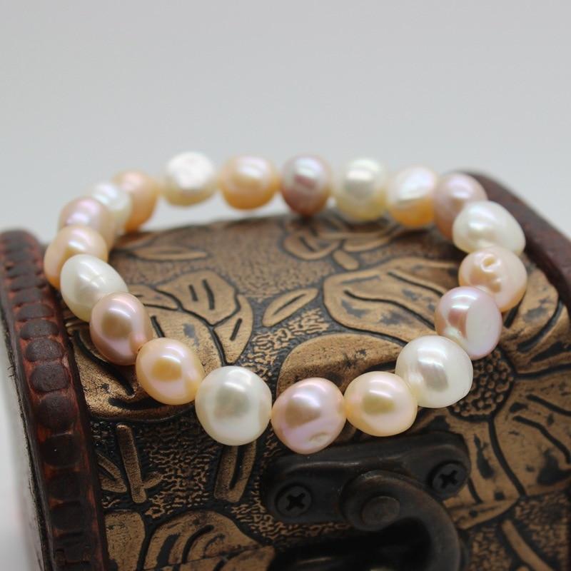 ASHIQI Naturligt färgglatt barock pärlarmband, sötvattenspärla - Fina smycken - Foto 5