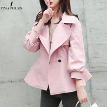 PinkyIsBlack Casaco Feminino 2019 Short Trench Coat For Women Autumn Spring Womens Windbreaker Outwear Female