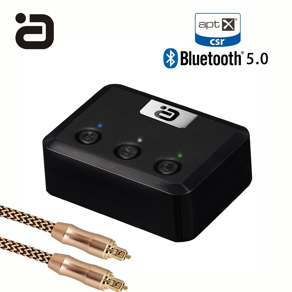 Wireless Bluetooth 5.0 Receiver Audio Adapter Optical,Coaxial & 3.5mm AUX Receiver aptX for Home Stereo Music Sound System