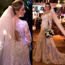 shinesia_zoe Arabia Mermaid Wedding Dresses Long Sleeve