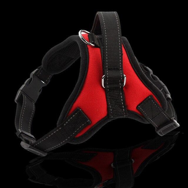 HANTAJANSS New Large Dog Harness Vest 3 Colors Professional Dog Chest Comfortable Nylon Net Cloth Pet Products Straps S-XL