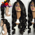 Cheap Long Wavy Lace Front Wigs Synthetic for Black Women Glueless Synthetic Lace Front Wig Heat Resistant Hair Front Lace wigs