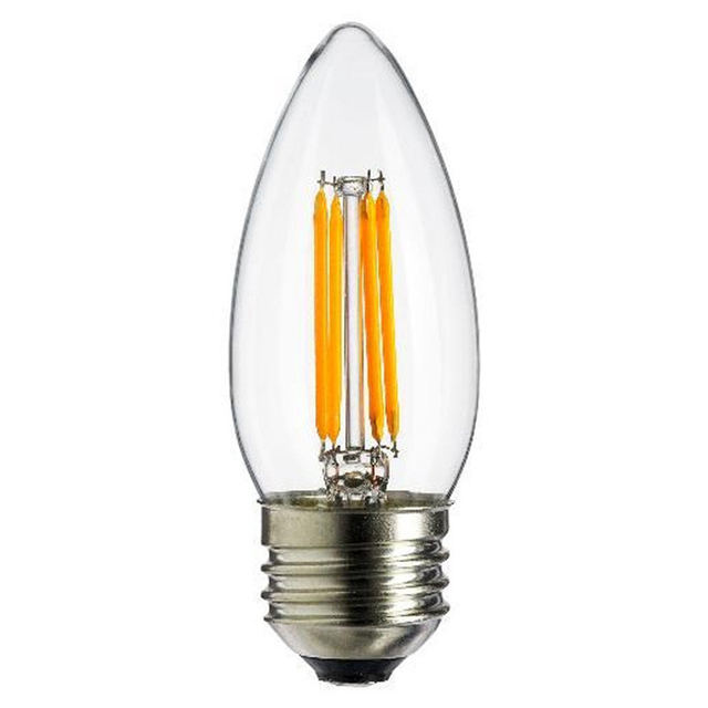 led filament lamp c35 e27 2w 4w 6w 200lm 2800k warm white dimmable 110v replacement for
