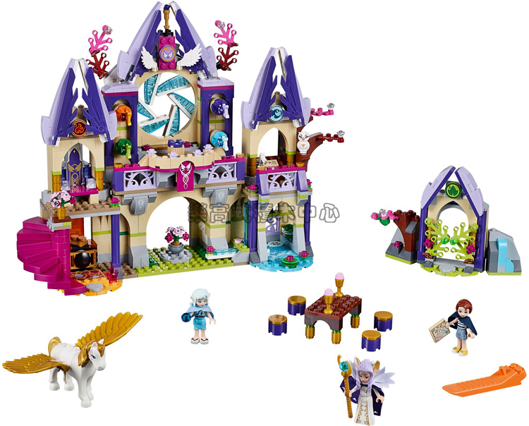 ФОТО 809pcs BELA 10415 friends Compatible Elves series Skyra's Mysterious Sky Castle Building Kit blocks brick Elves 41078