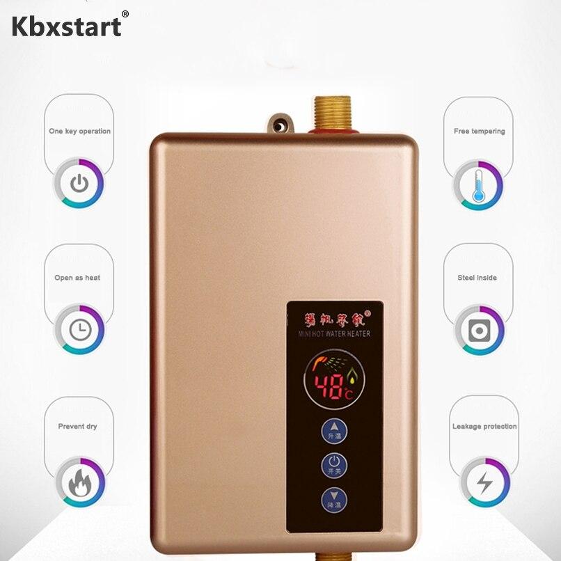 Calentador de agua Kbxstart, grifo de baño, Calentador de agua inteligente instantáneo, Calentador de agua eléctrico 5500W