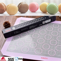 Nonstick Round Silicone Pastry Cake Macaron Muffin Cake Macaron Oven Baking Mould Sheet Mat DIY Form