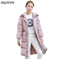 Newest Winter Women Parka Fashion Elegant Korean Slim Down Cotton Coat Thick Warm Parka Jacket Large