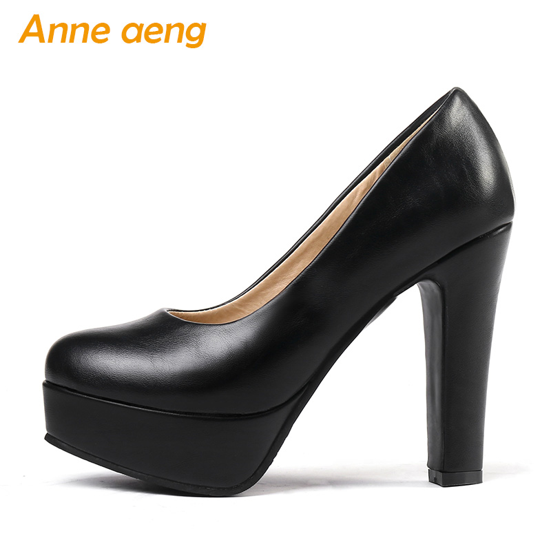 New Spring/Autumn Women Pumps 11CM High Heels Platform Shoes Round Toe Shallow Sexy Office Ladies Women Shoes Black High Heels high heels