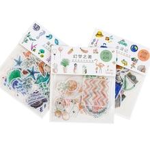 40pcs/pack Cute Kawaii Cartoon Small Adhesive Decorative Scrapbooking Sticker Dairy Sticker Stationery School Office Supplies