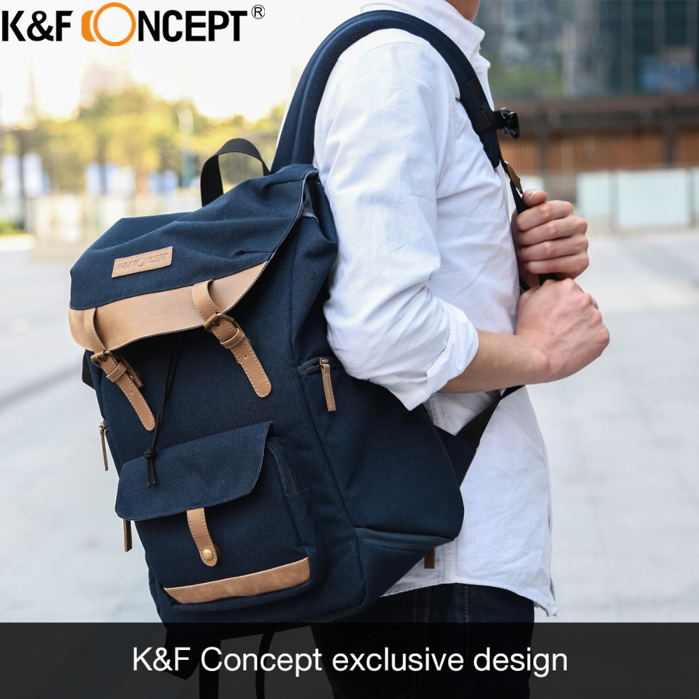 K&F CONCEPT Camera Backpack Multi-functional+Large Capacity Hold 1 Camera+Multiple Lenses+Flashlight+Small Items for Camera литой диск replica legeartis concept ns512 6 5x16 5x114 3 et40 d66 1 bkf