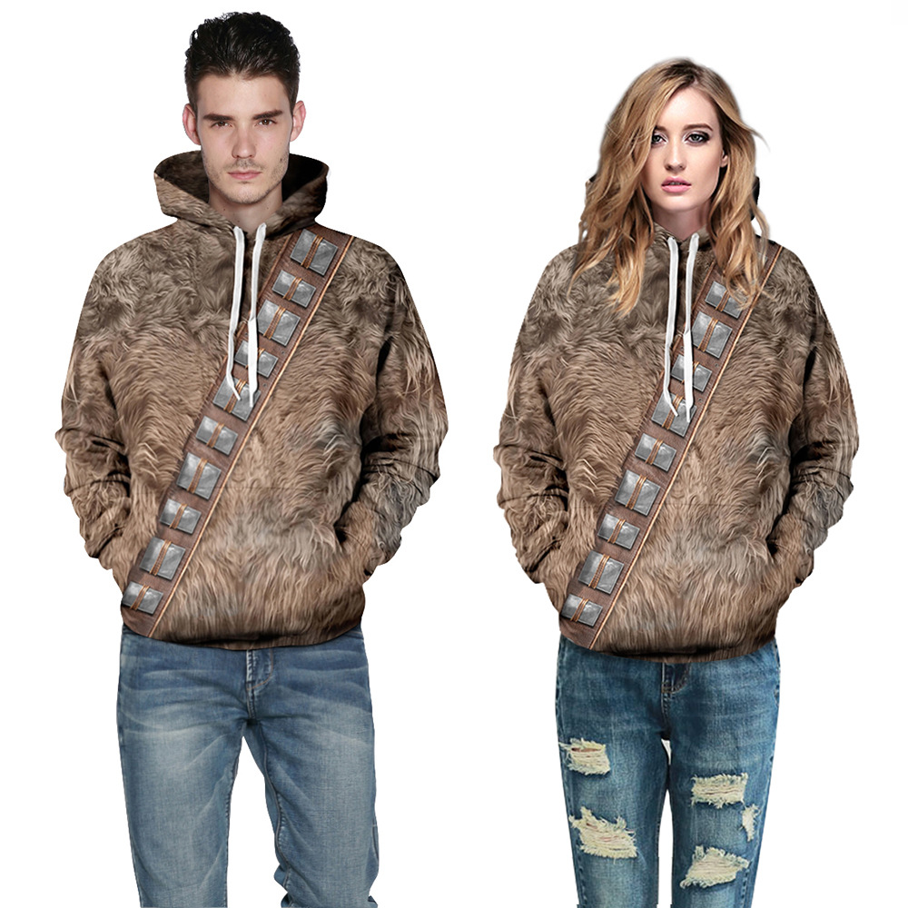 New fashion Men/Women Autumn Hooded Tops Print Animals Fur 3d Sweatshirt With Pocket Couple Lovely Tracksuits