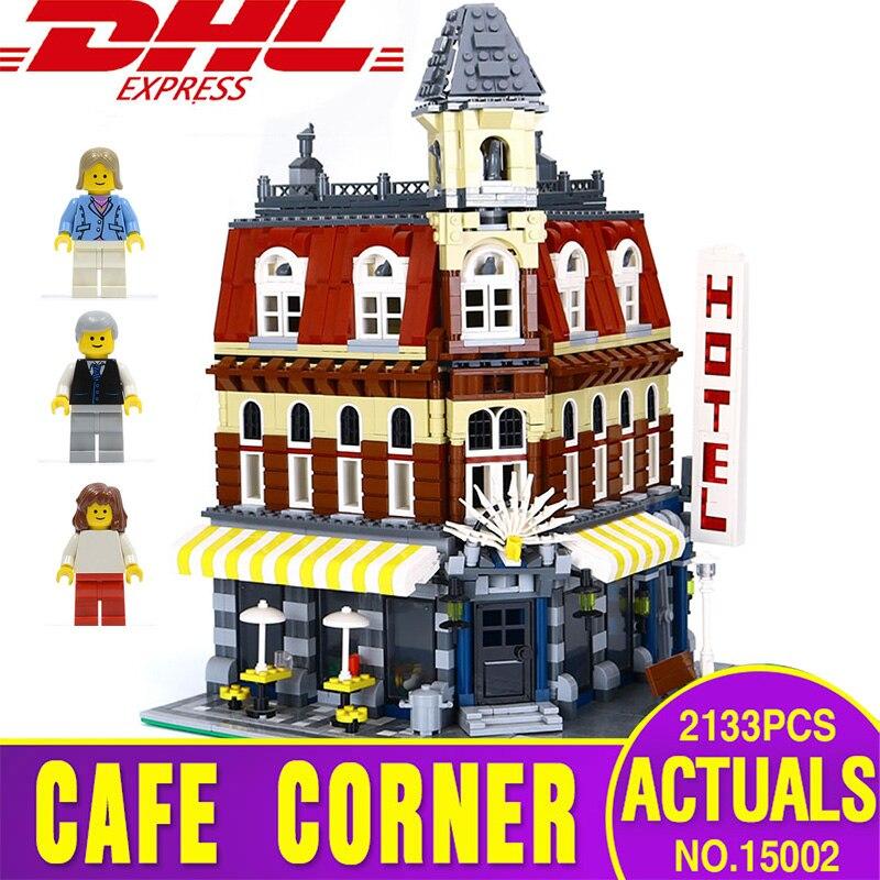 船からスペイン 15002 カフェコーナー 2133 個モデル構築キットブロックキッド玩具ギフト brinquedos と互換性 10182 子供おもちゃ  グループ上の おもちゃ & ホビー からの ブロック の中 1