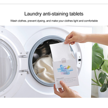 24 Sheets Anti-Color Dyed Leaves Laundry Color Run Remove Sheet Anti-stain Absorbent Color Catcher For Washing Machine