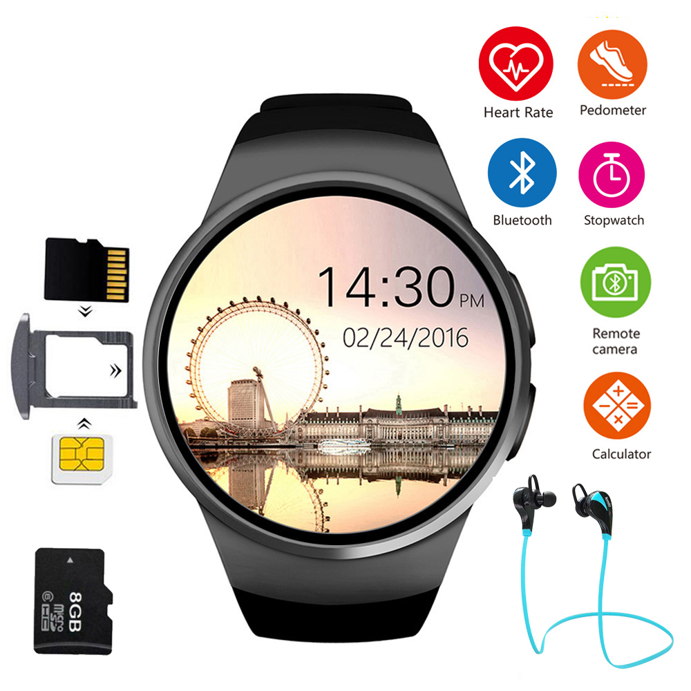 Téléphone Fitness montre intelligente dames mâle moniteur de fréquence cardiaque pression artérielle Bluetooth podomètre hommes montre de sport pour la course