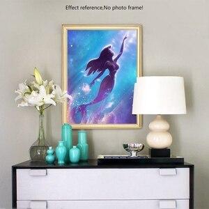 Image 5 - Nóng 5D DIY Kim Cương Nàng Tiên Cá Tranh Gắn Đá Hình Hoạt Hình Hình Kim Cương Giả Full Vuông Khoan Nhà Món Quà Trang Trí