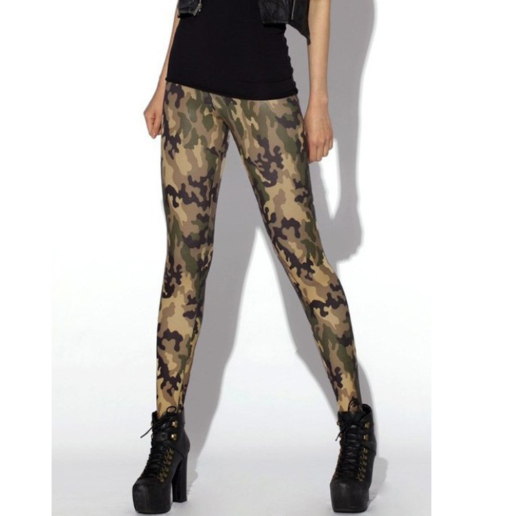 2016 Hot New Arrival Women black milk Digital Sky camouflage green Leggings sexy Slim Skinny Pants