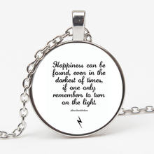 The hottest happiness can be found pendant necklace Dumbledore quote J K Rowling Porter charm gift jewelry XKHLHJ