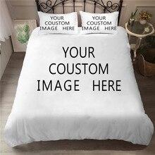 Parure de lit, housse de couette imprimée en 3D, motif personnalisé, Textiles de maison, avec taie doreiller, pour adultes