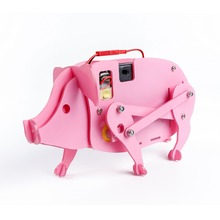 Sunfounder DIY Assembled Educational Stem Building Pig Toys for Kids
