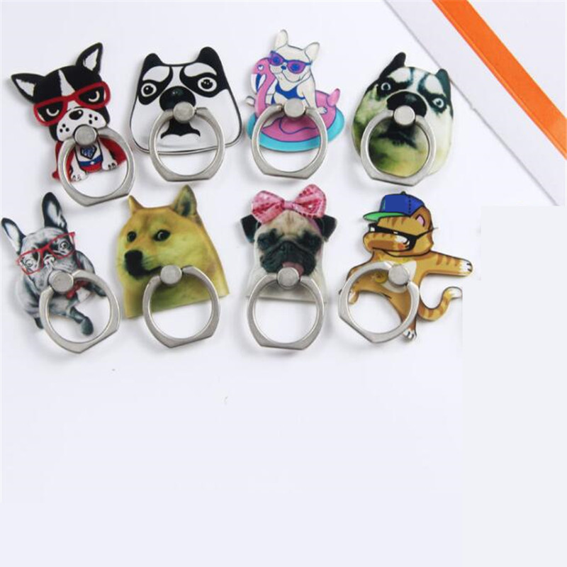 UVR 360 Degree Cool Dog Animal Holder Finger Ring Mobile Phone Stand Holder For IPhone/Samsung/Xiaomi Ring All Phone Holder
