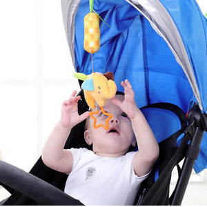 Image 4 - 赤ちゃん動物ソフトはおもちゃ幼児 0 12 月ベッドベビーベッドベビーカー音楽釣鐘キッズぬいぐるみ携帯ベビーぬいぐるみ игрушки