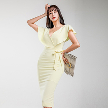 46b3df15404b0 Buy yellow midi dress and get free shipping on AliExpress.com