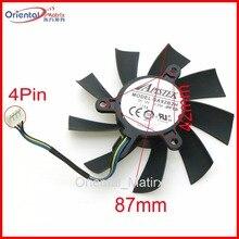 Free Shipping GA92B2U PFTB 12V 0 35A 4Pin 87mm VGA Fan For Dataland DEVIL R9 390X