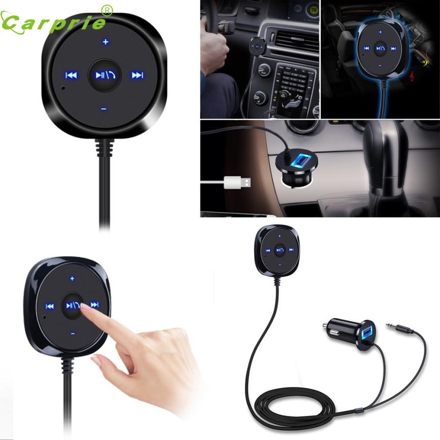 New Arrival Bluetooth 4.0 Wireless Music Receiver 3.5mm Adapter Handsfree Car AUX Speaker At10