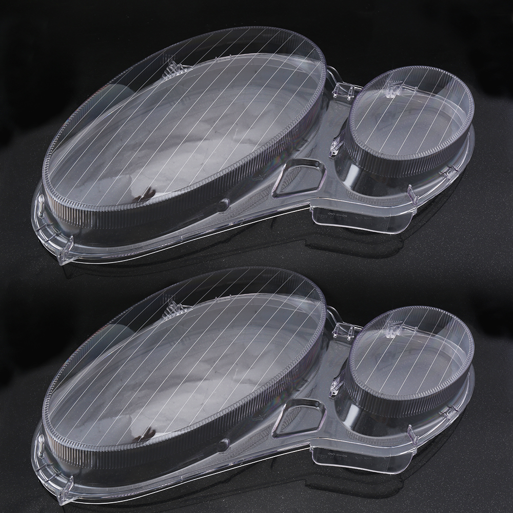 2PCS Clear Right Left Car Housing Headlight Lens Headlamp Lense Shell Cover Lamp Assembly For Mercedes