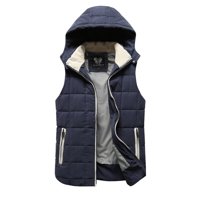 2017 New winter men's Casual plaid cotton vest Jackets Men clothing brand Slim Fit warm vest coats high quality