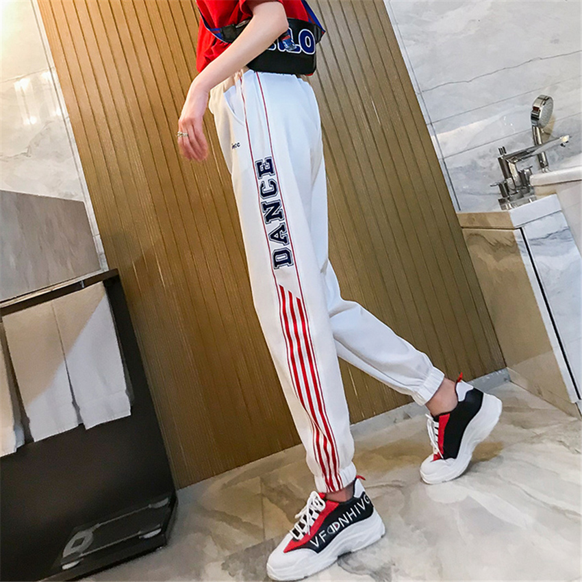 Casual Harem Pants hip hop fashion plus size S-2XL loose beam legs women's couple Harajuku pants dropshipping pantalon femme 47