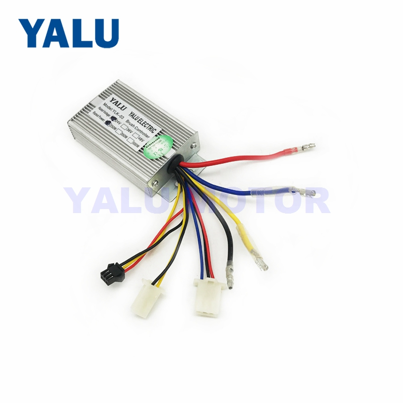 Electric Brushed Motor DC Controller 24V 36V 250W Speed Controller with PAS Sensor Port For Electric Bicycle Scooter Accessories-in Electric Bicycle Accessories from Sports & Entertainment